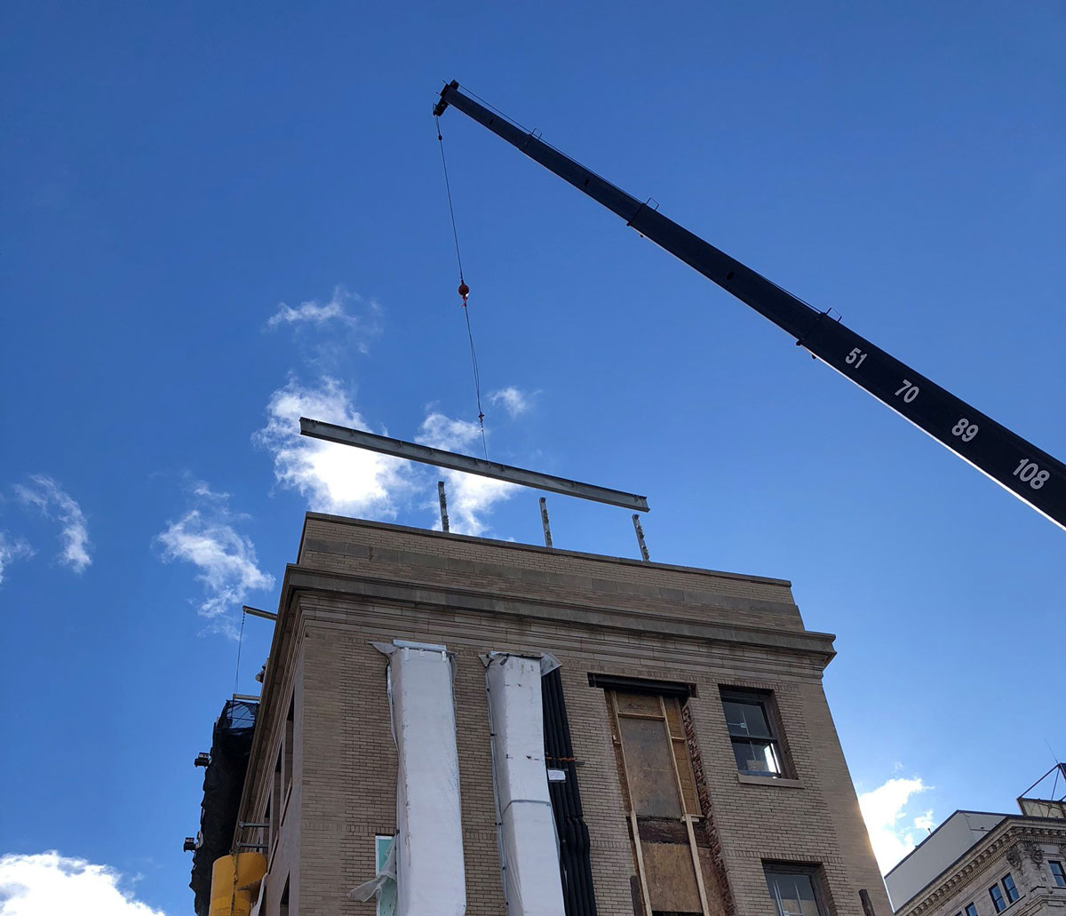 Crane Install by Raser Steel | Reading, PA